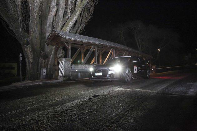 Audi RS4 2018 20Quattro Ore delle Alpi notturno ponte di legno