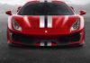 Ferrari 488 pista frontale rossa statica