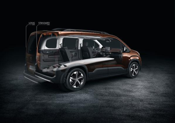 Peugeot Rifter dettaglio trasparente