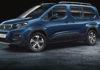 Peugeot Rifter 3/4 laterale anteriore sinistra blu statica in studio