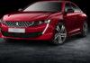 Nuova Peugeot 508 rossa 3/4 laterale anteriore sinistra statica in studio