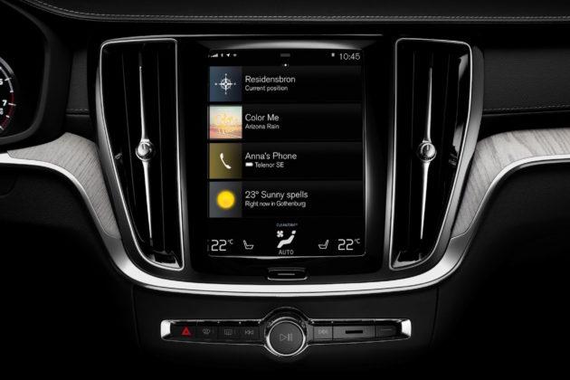 Nuova Volvo V60 dettaglio schermo centrale