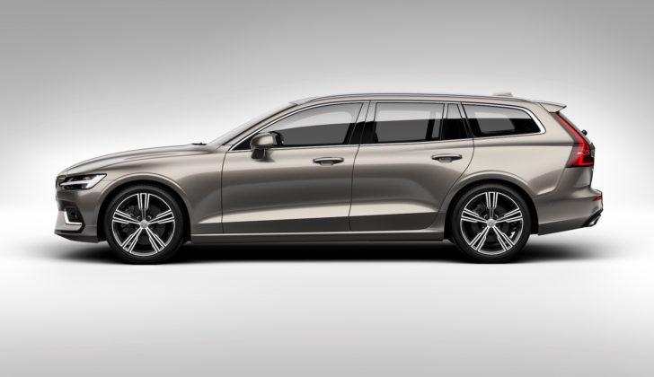 Nuova Volvo V60 laterale sinistra in studio statica