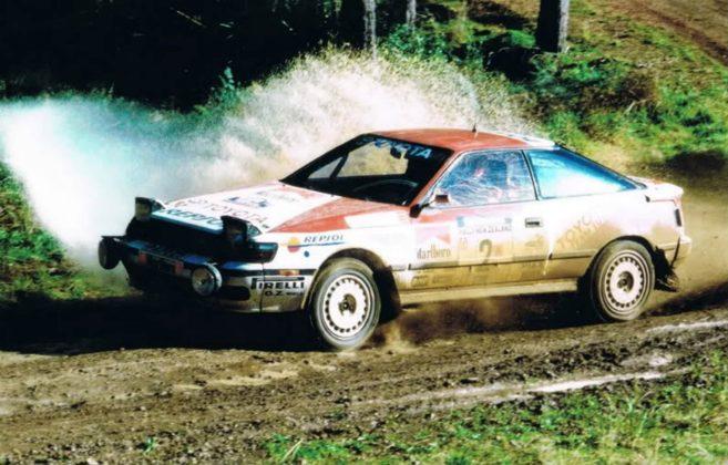 Toyota Celica Rally Car sgomma nel fango