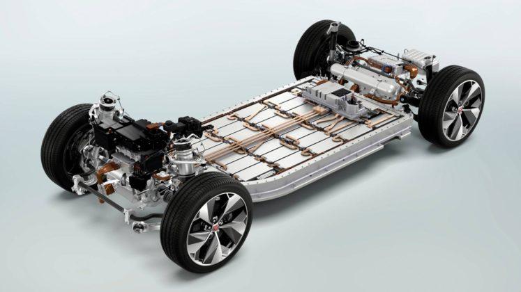jaguar i-pace pianale batterie motori elettrici