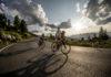 HERO Sudtirol Dolomites 2018 al tramonto ciclisti