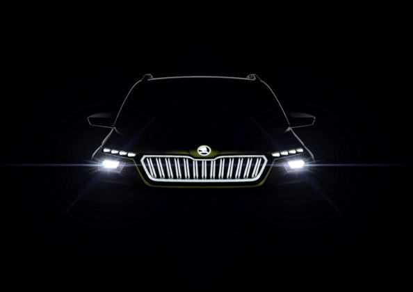 skoda vision x frontale luci