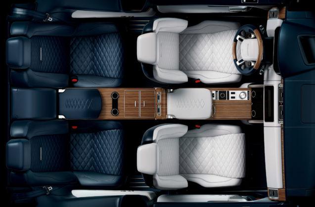 Range Rover SV Coupe dall'alto dettaglio sedili