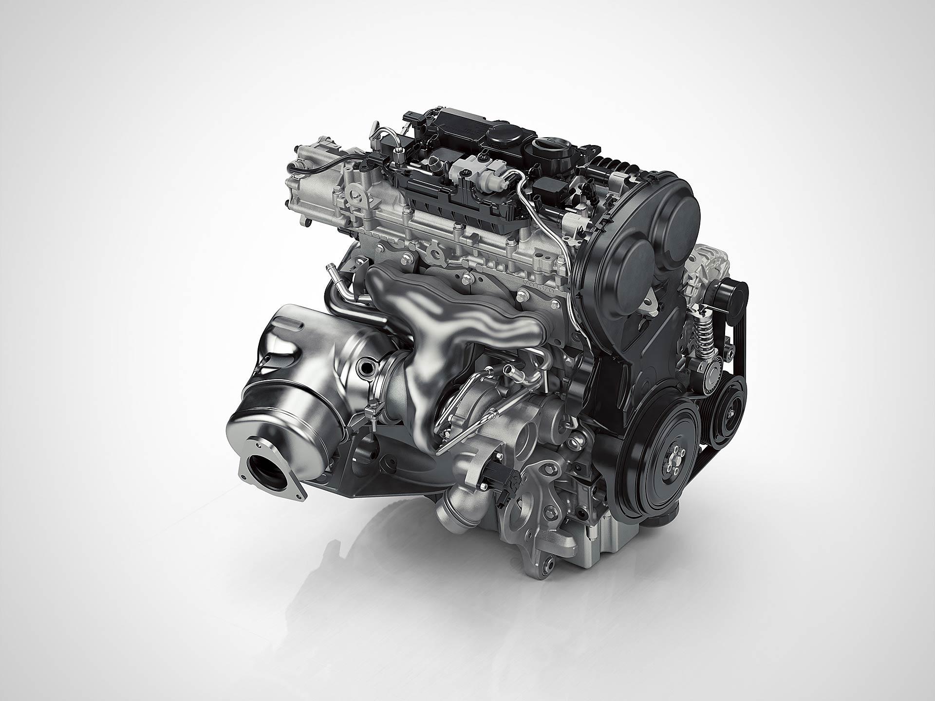 Motore volvo 4 cilindri con tecnologia Drive-E