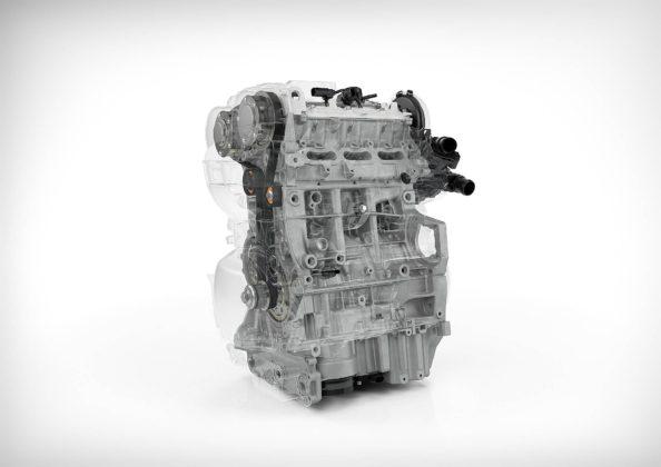 1.5 3 cilindri Volvo in trasparenza