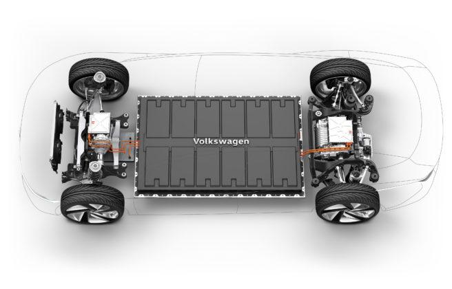 Volkswagen ID Vizzion trasparente con dettaglio