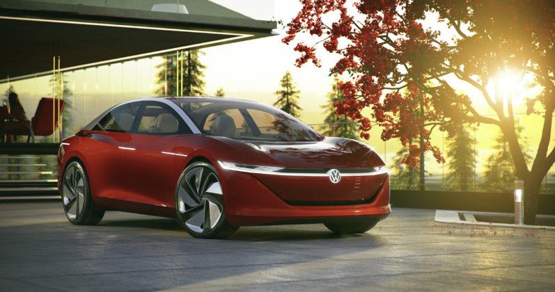 Volkswagen ID Vizzion 3/4 laterale anteriore destra statica