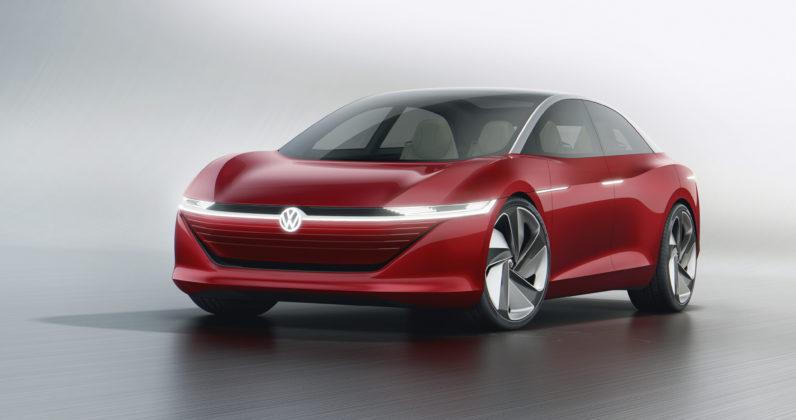 Volkswagen ID Vizzion 3/4 laterale anteriore sinistra statica in studio