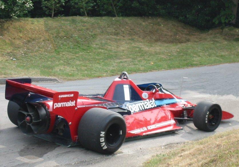 Brabham F1 con ventola per estrarre l'aria e creare effetto suolo