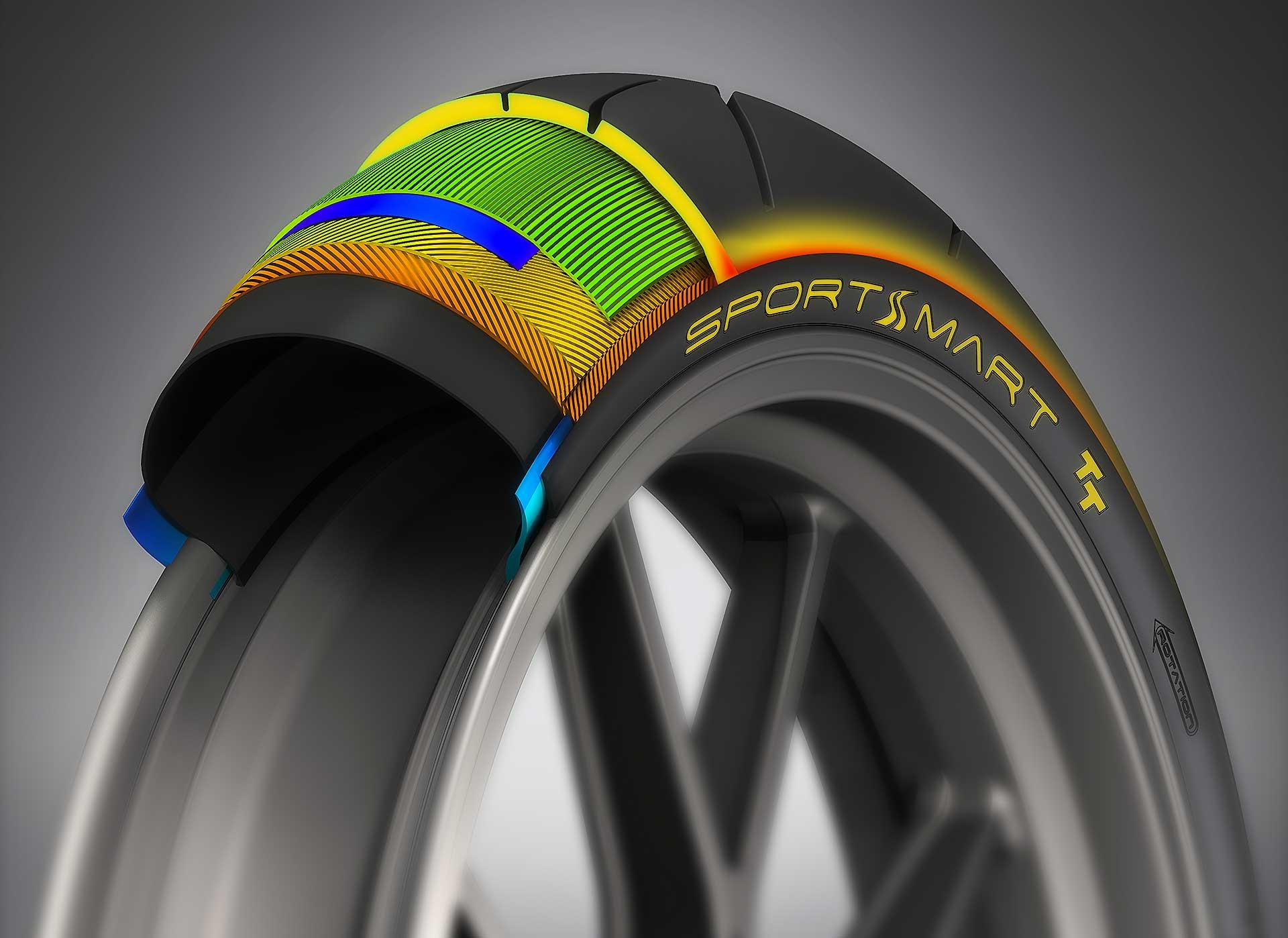 Dunlop SportSmart TT disegno tecnico