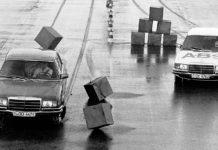 A fine anni '70 durante le sperimentazioni dell'ABS di Bosch su Mercedes