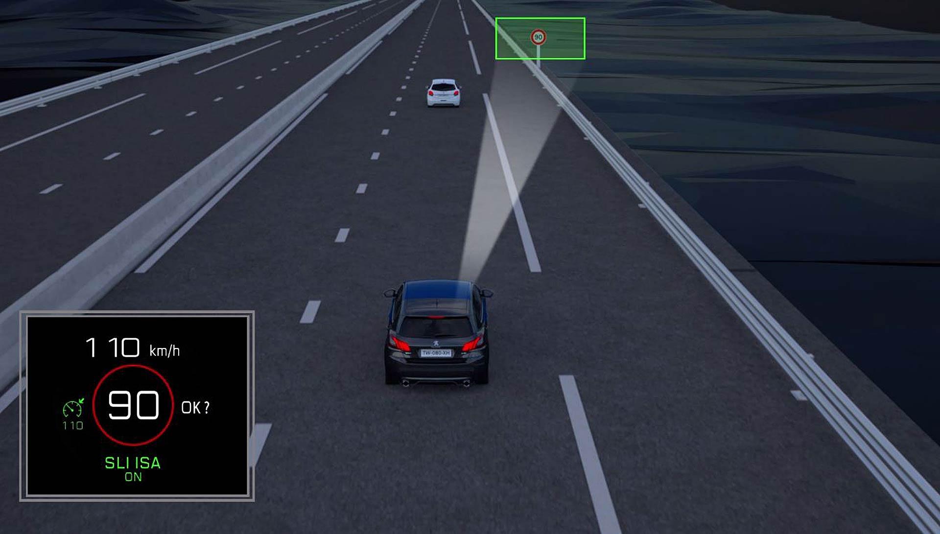 Il sistema Speed Limit Detection del gruppo PSA: l'auto legge i cartelli stradali e imposta il limite