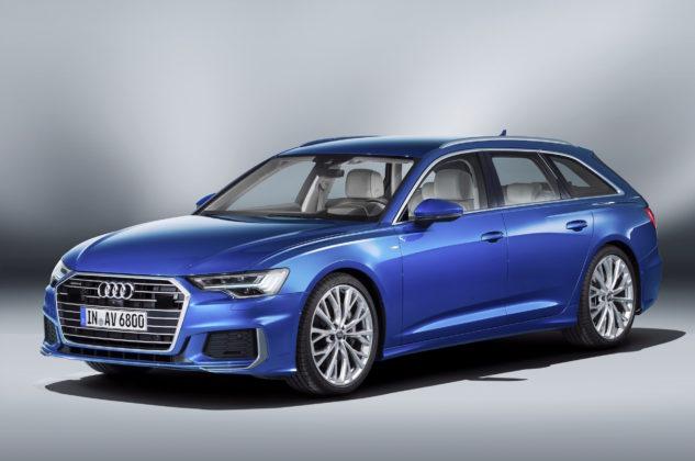 Nuova Audi A6 Avant 3/4 laterale anteriore sinistra statica in esposizione