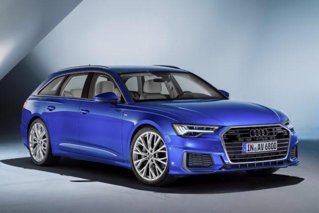Nuova Audi A6 Avant 3/4 laterale anteriore destra statica in esposizione