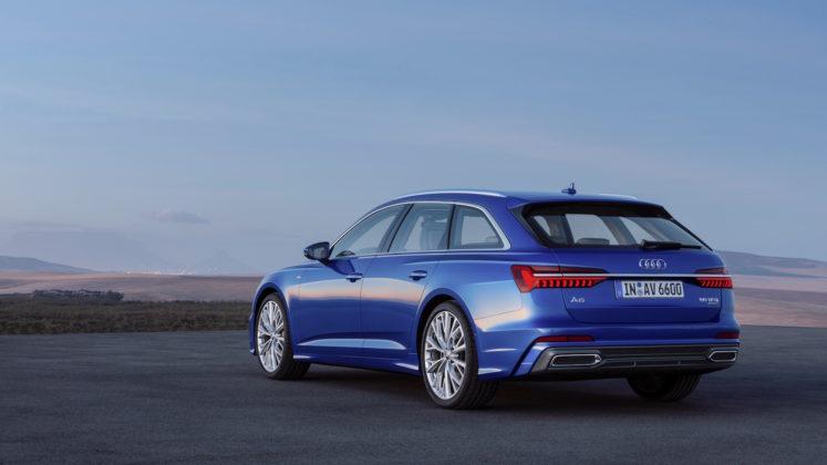 Nuova Audi A6 Avant 3/4 laterale posteriore sinistra statica