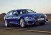Nuova Audi A6 Avant 3/4 laterale anteriore destro in movimento su strada