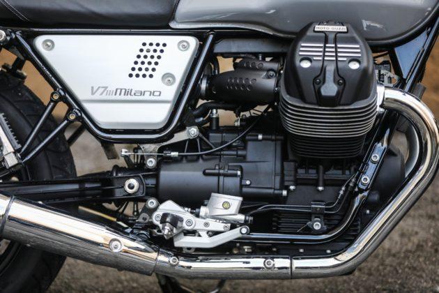 Guzzi V7III Milano dettaglio motore laterale