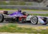 Formula E DS Virgin Racing laterale in movimento