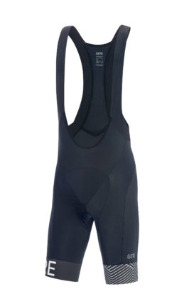GORE® C5 Optiline Bib Shorts+ blu scuro anteriore
