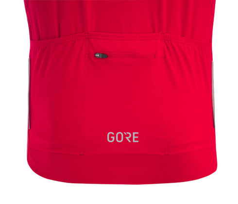 GORE® C5 Optiline Jersey dettaglio tasca posteriore rossa
