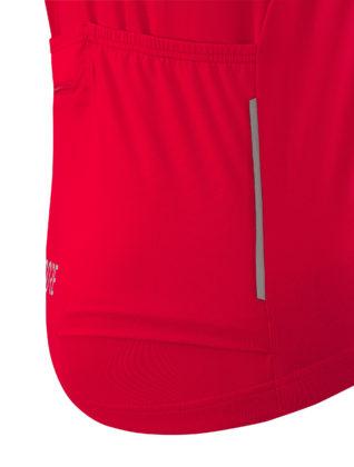 GORE® C5 Optiline Jersey dettaglio laterale rossa