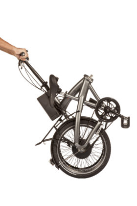 Askoll eBFolding 2018 visione laterale della bici piegata