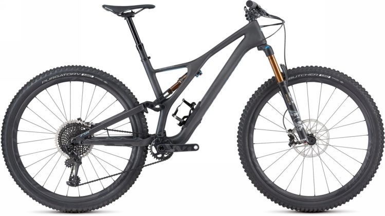 Specialized Stumpjumper 2018 grigia laterale statica