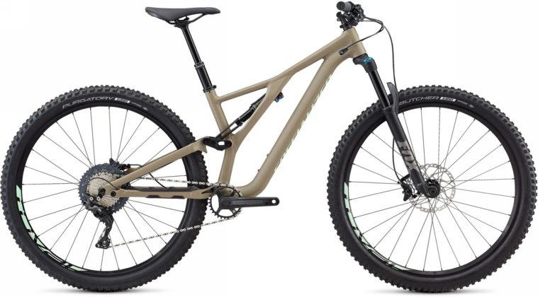 Specialized Stumpjumper 2018 beige laterale statica