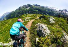 La Thuile 2018 ciclista sul percorso