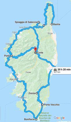 Itinerario Corsica con KTM 790 Duke