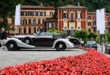 Concorso Eleganza Villa Este 2018 dettaglio auto d'epoca laterale