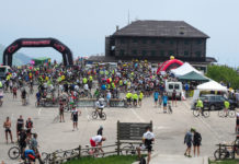 Monte Grappa Bike-Day visione atleti su collina