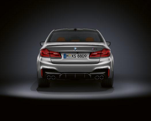BMW M5 competition posteriore statica grigia