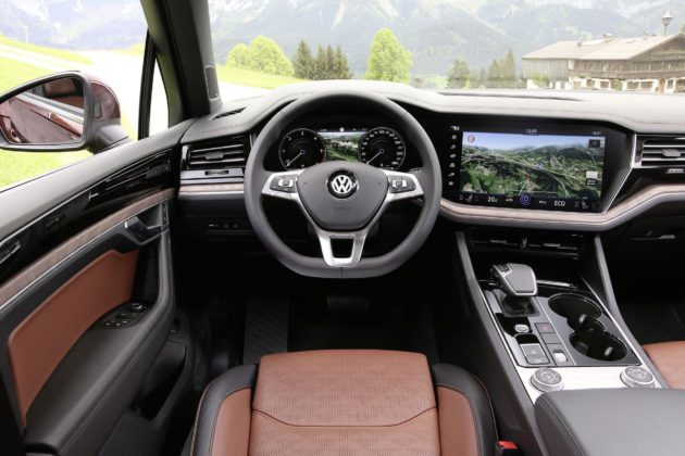 Volkswagen Touareg 2018 dettaglio visione guidatore