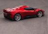 Ferrari One Off SP38 3/4 laterale posteriore destra statica rossa