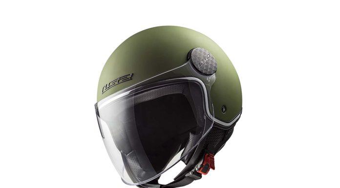 LS2 Sphere Lux laterale verde militare