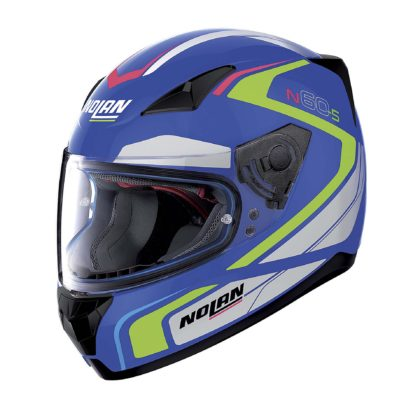 casco Nolan laterale blu
