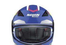 casco Nolan frontale blu