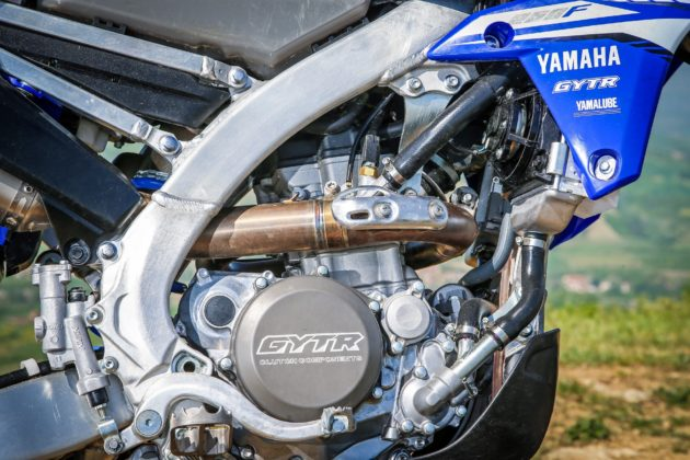 Yamaha WR250F dettaglio laterale motore