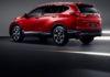 Honda CR-V 3/4 laterale posteriore sinistra rosso statico