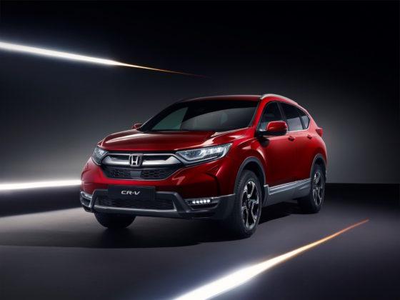 Honda CR-V 3/4 laterale anteriore sinistra rosso statico