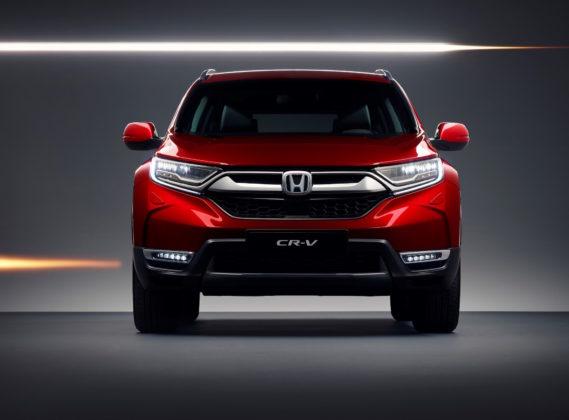 Honda CR-V frontale rosso statico