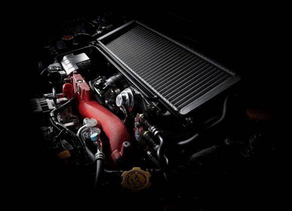 Subaru Impreza dettaglio 3/4 motore