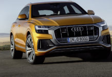 Audi Q8 frontale statica dragon orange