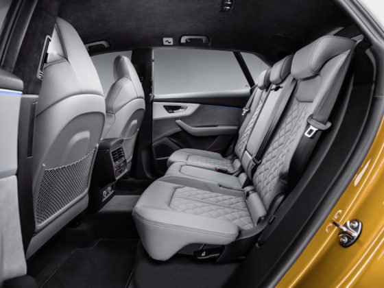 Audi Q8 dettaglio sedili posteriori